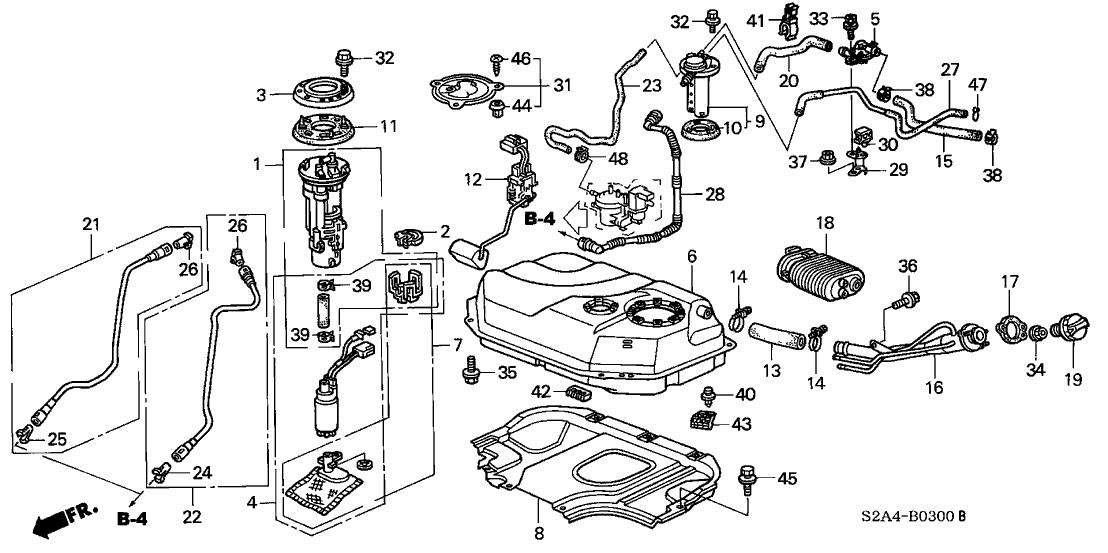 2003 Honda S2000 Fuel Filter
