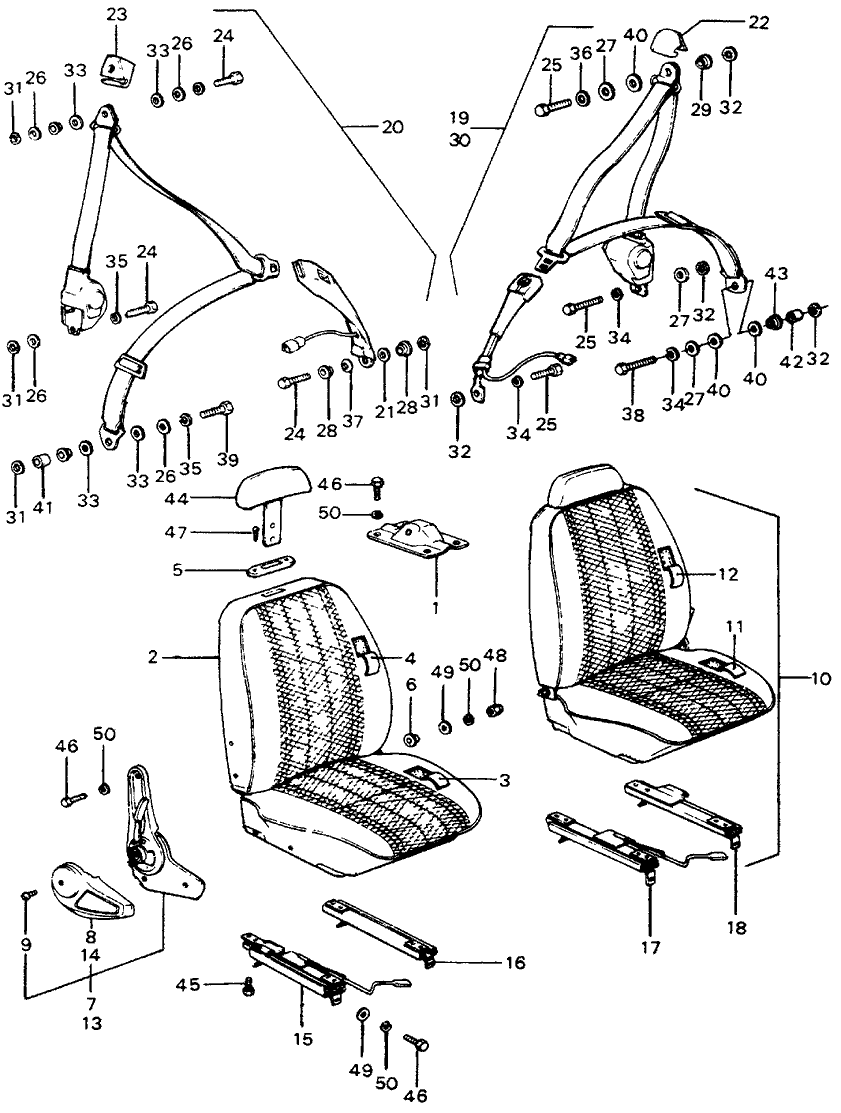 77610 657 673za genuine honda seat belt r fr nh1l nsk. Black Bedroom Furniture Sets. Home Design Ideas