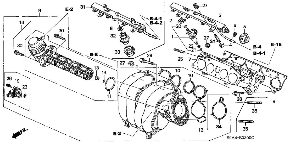 [SCHEMATICS_4JK]  16620-PND-003 - Genuine Honda Pipe, Fuel   2004 Honda Cr V Engine Diagram      Honda Parts Now