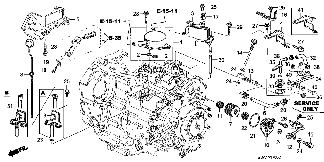2004 Honda Accord Transmission Parts Diagram