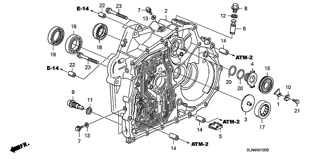 2007 Honda Fit 5 Door Base Ka 5at At Torque Converter Case