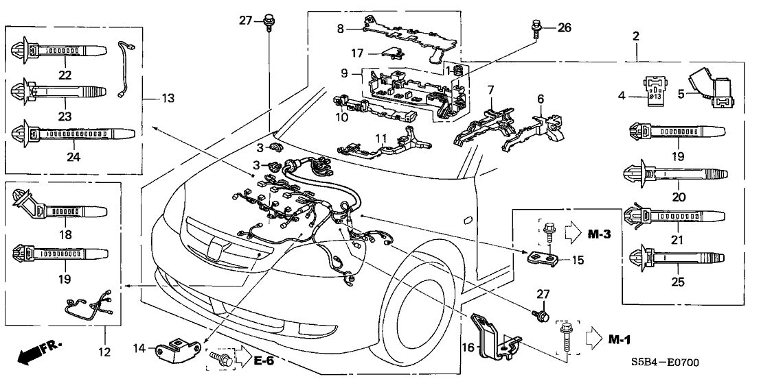 2000 Honda Accord Engine Wiring Harnes