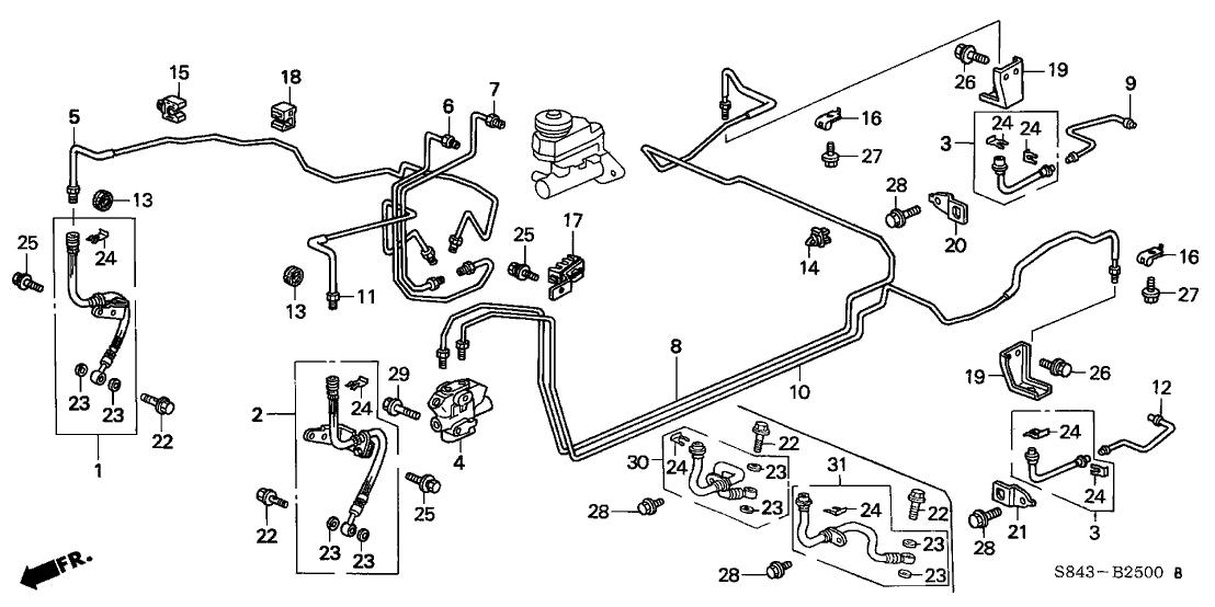 1999 honda accord brake line diagram