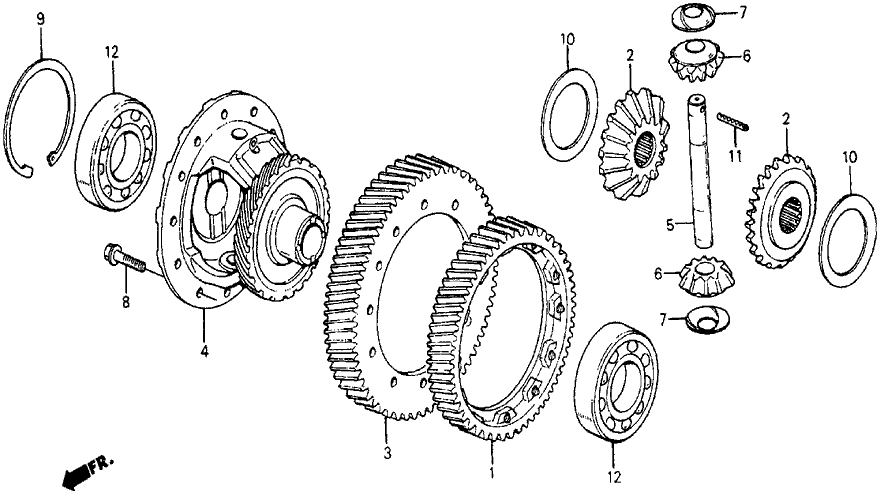 civic 4wd differential