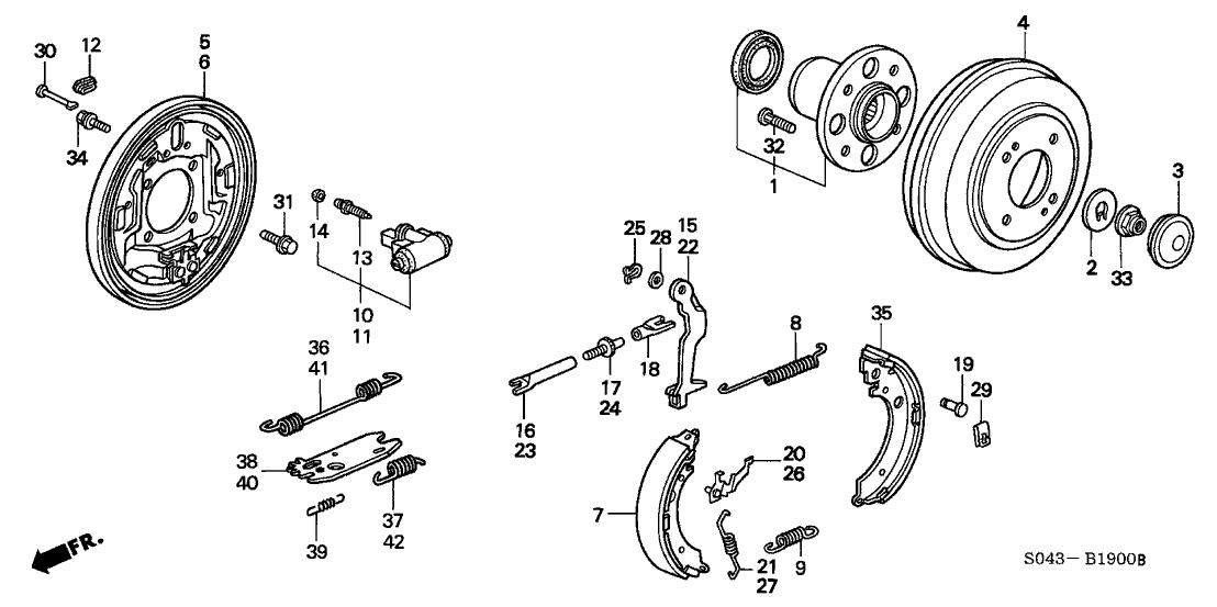 honda 43110 s04 a01 Dirt Bike Brake Diagram