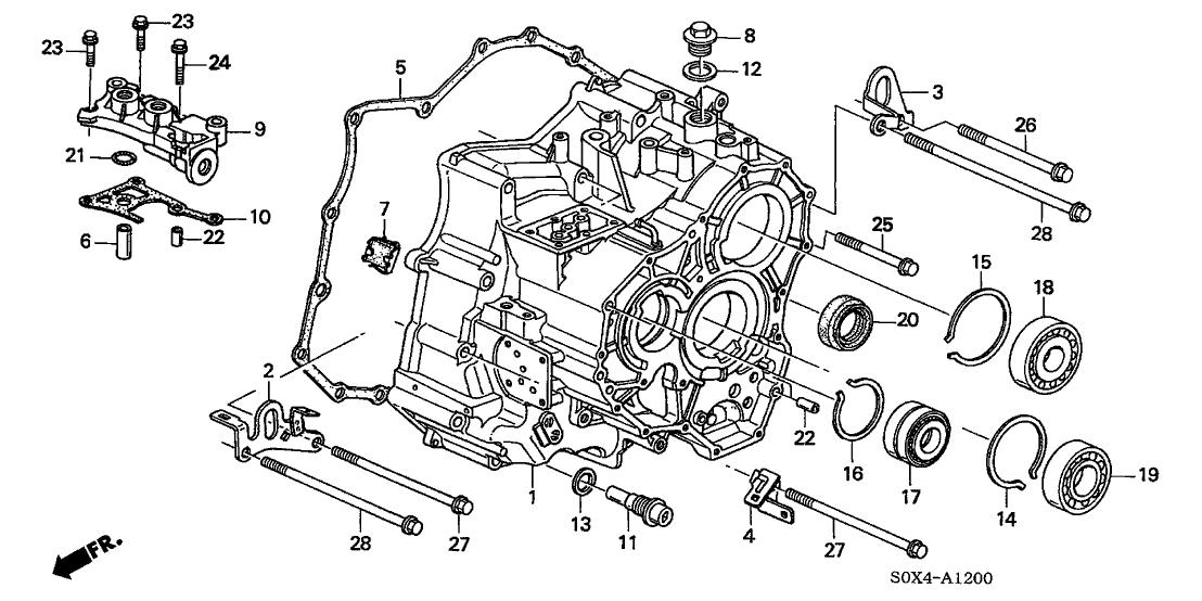 21210 Pyb 405 Genuine Honda Set Trns Case