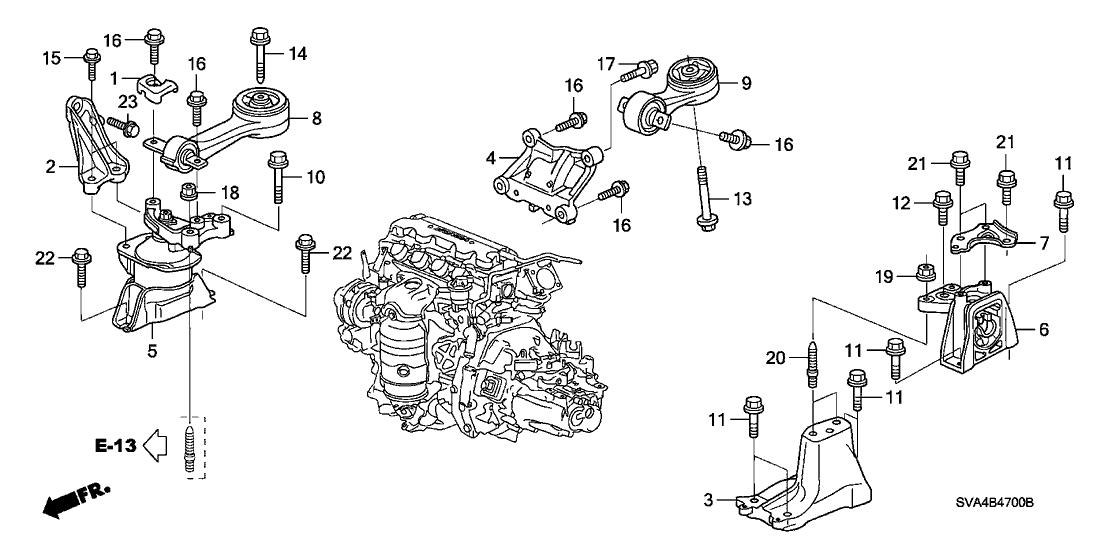 2006 honda civic 2 door ex ka 5mt engine mounts (1 8l) 2006 Honda Civic Ignition Relay