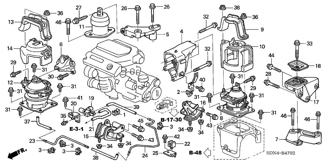 2004 Honda Accord Transmission Parts Diagram | Reviewmotors.co
