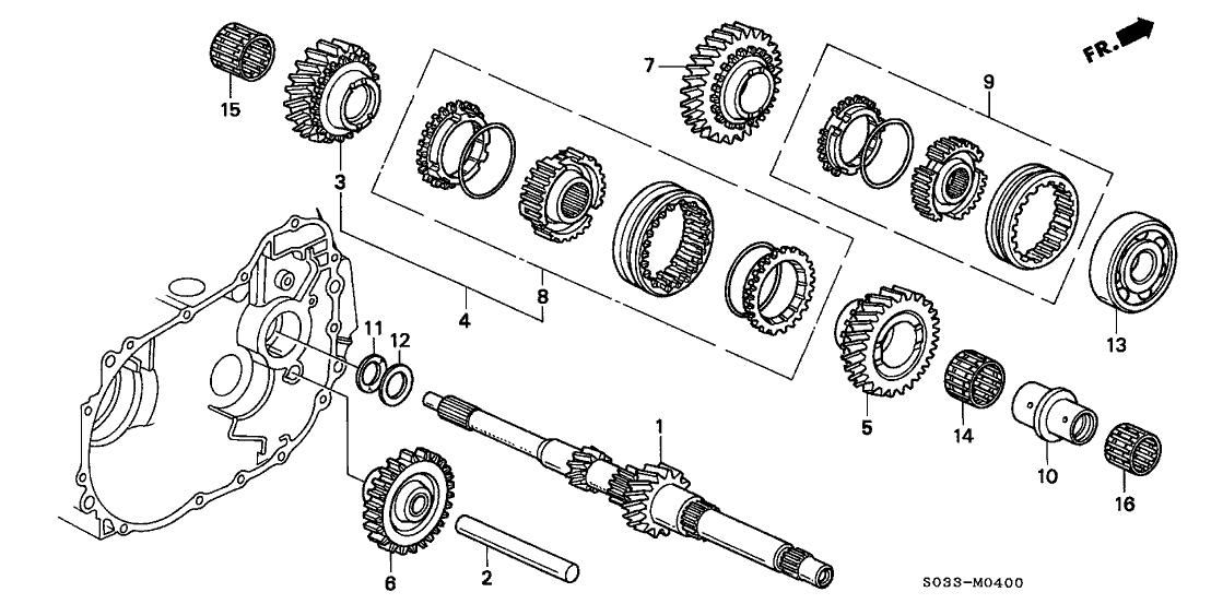 91004-PL3-A03 - Genuine Honda Parts