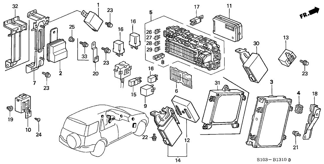 2001 Honda Cr V Engine Diagram - Wiring Diagrams