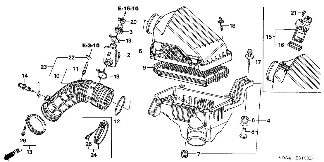 2004 Honda Accord Exhaust Diagram