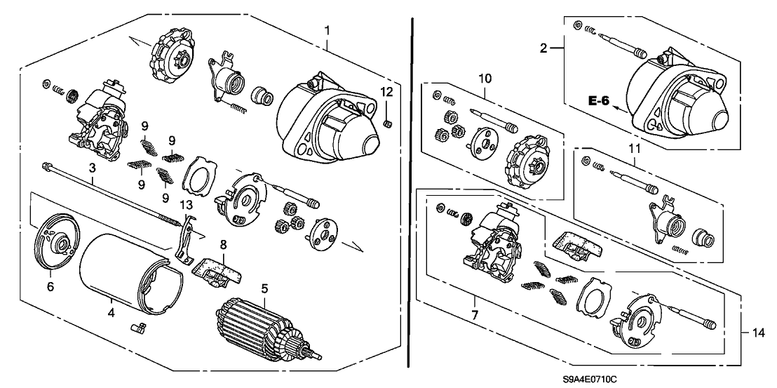 2005 honda cr-v 5 door lx (2wd) ka 5at starter motor (