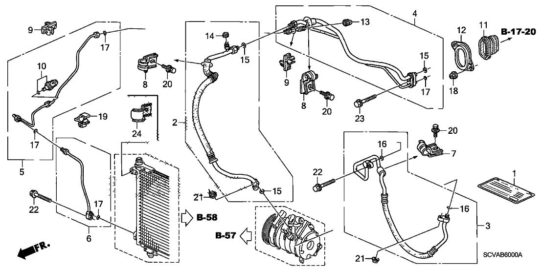 80342-SCV-A02 - Genuine Honda Pipe B, Receiver