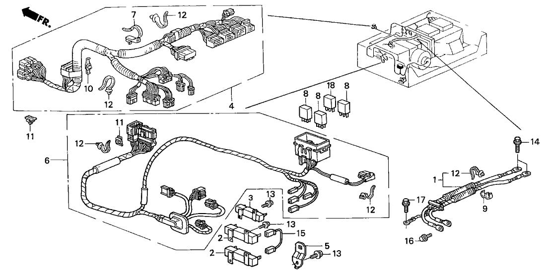 2000 honda insight 3 door dx  a  c  ka 5mt ima wire harness
