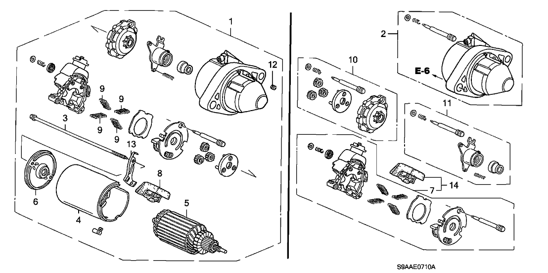 2006 honda cr v 5 door ex (2wd) ka 5at starter motor (mitsuba) Honda CR-V Engine Problems