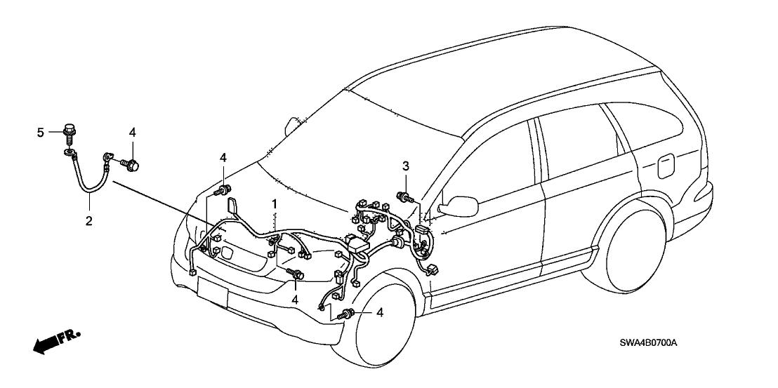 2007 honda cr v 5 door ex l (2wd) ka 5at wire harness 2014 Honda CR-V