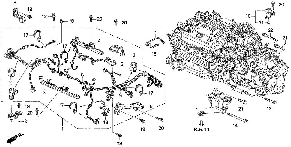 1997 Honda Accord 4 Door V6 LX (ABS/V-6) KA 4AT Engine ...