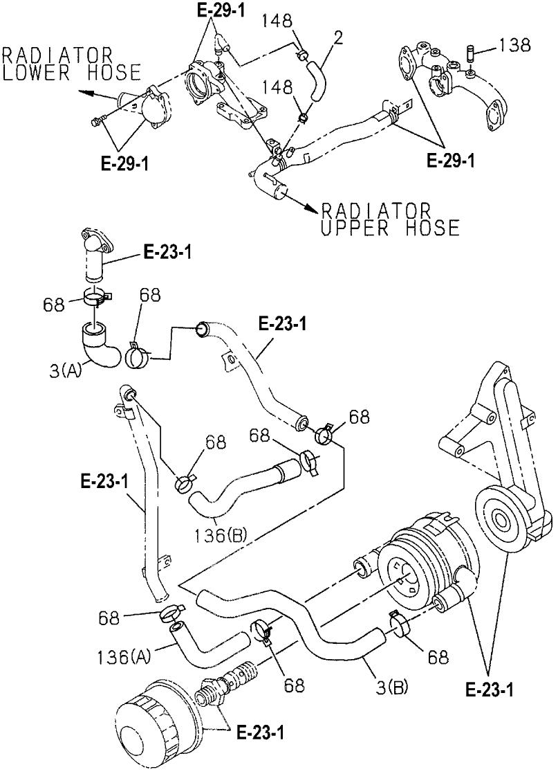 8-97061-307-2 - Genuine Honda Hose, Oil Cooler Return