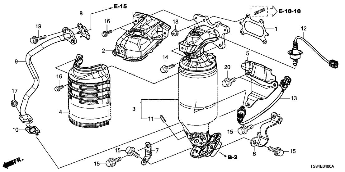 18190-R1B-A00 - Genuine Honda Converter, Primary