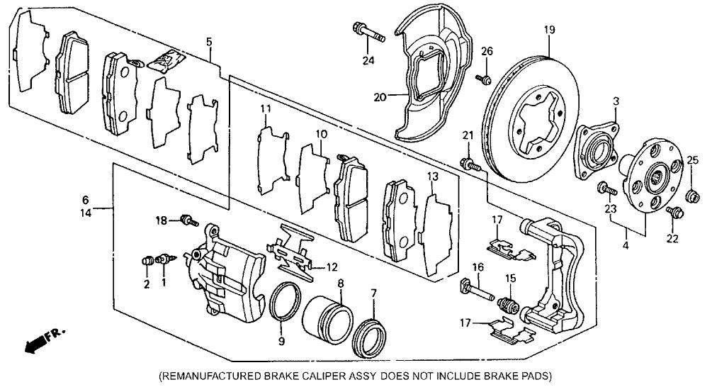 1990 Honda Accord Exhaust System Diagram