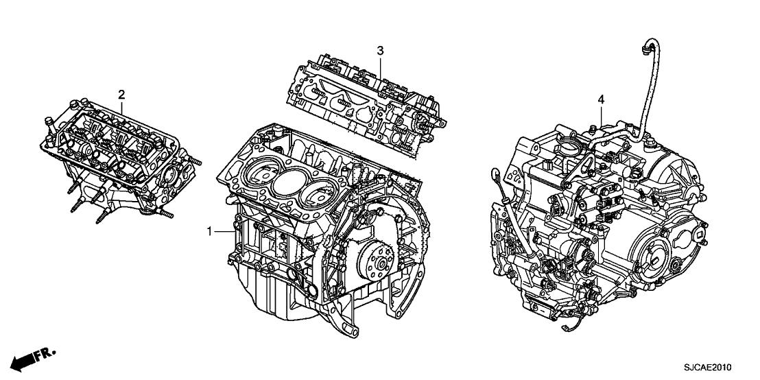 Honda A12 Service >> 10005-RJE-A12 - Genuine Honda Engine Sub-Assy,RR Hd