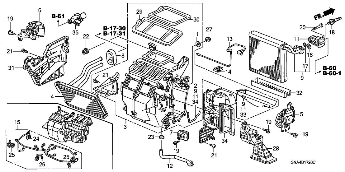 80650-sna-a01 - genuine honda sub-harness, air conditioner 2008 honda civic engine diagram  honda parts now