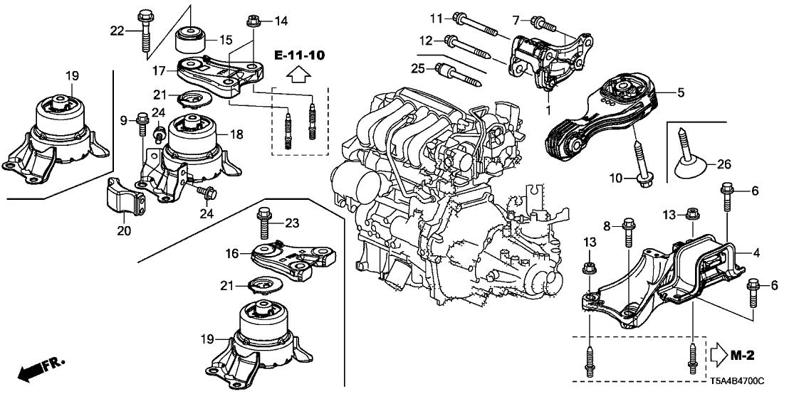 2015 Honda Fit Parts Diagram