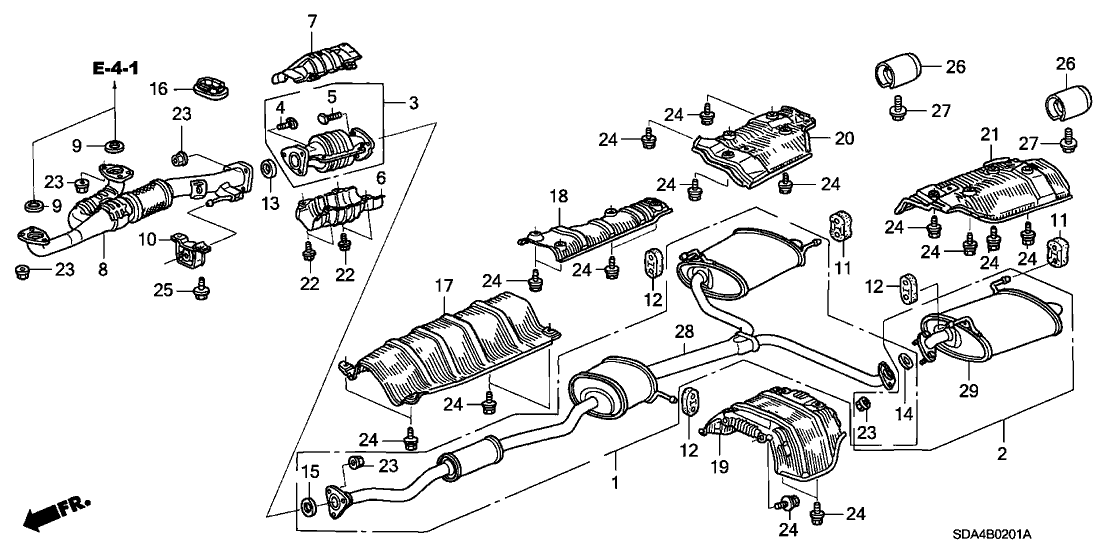 2003 Honda Accord Exhaust Diagram