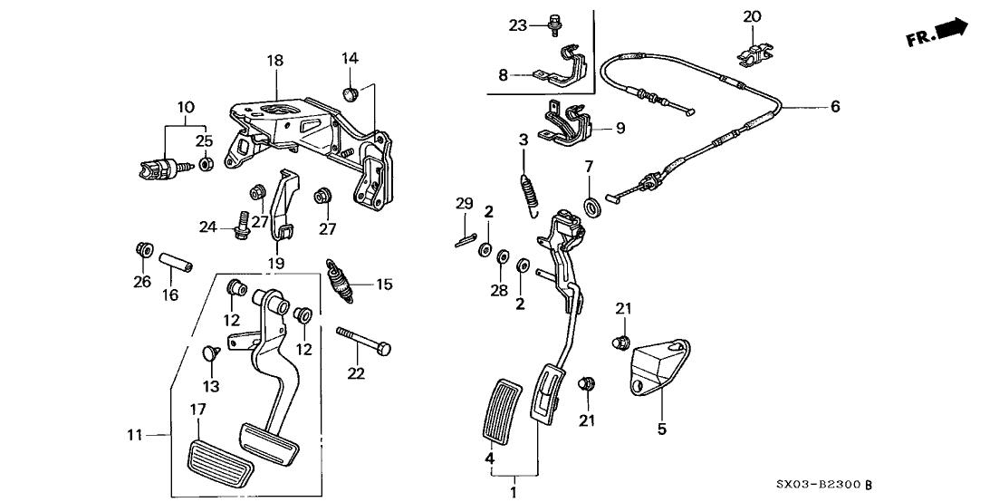 17910 sx0 a81 genuine honda wire throttle. Black Bedroom Furniture Sets. Home Design Ideas