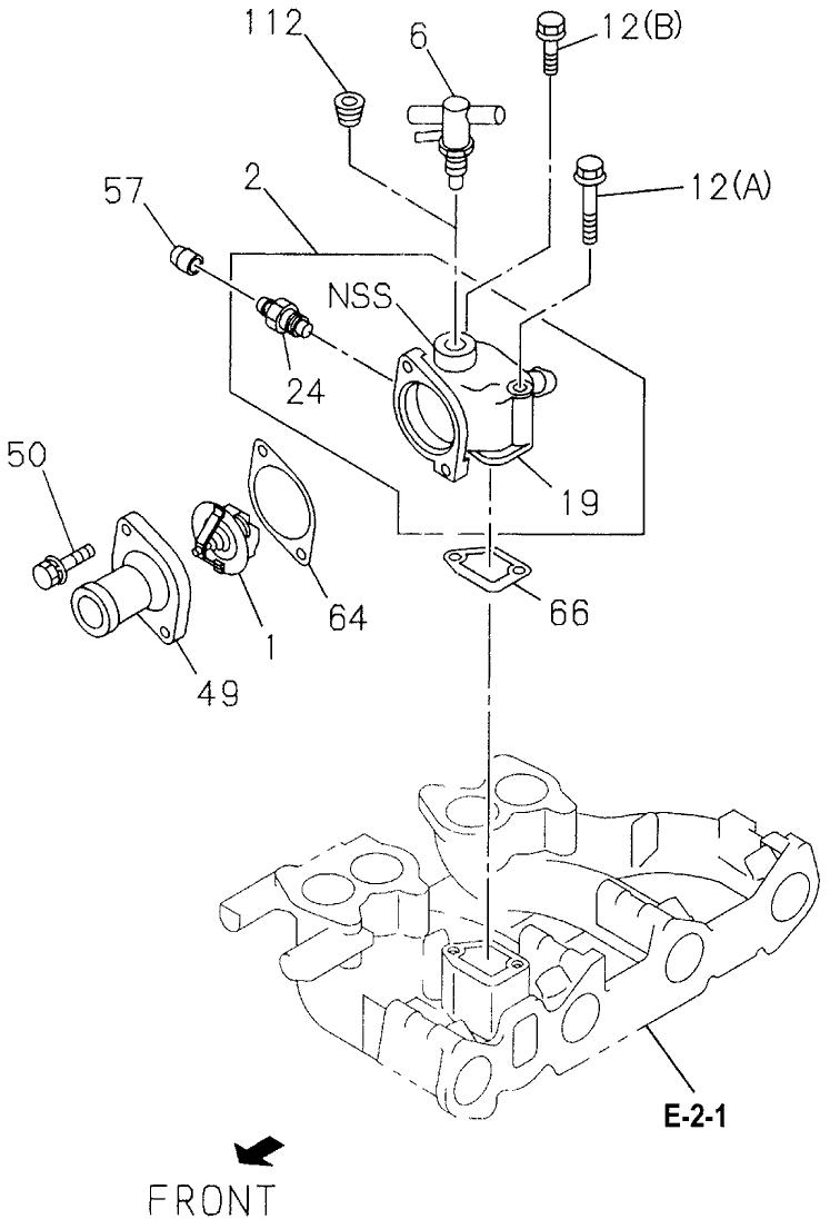 8-94454-580-0 - Genuine Honda Valve, Thermal Engine Water