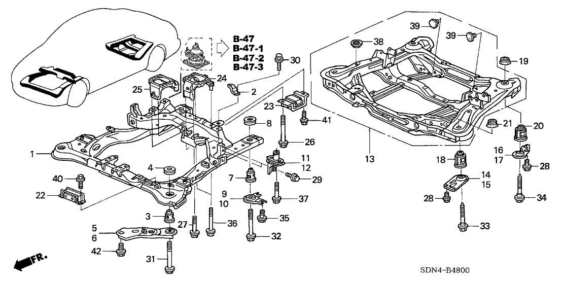 2005 Honda Accord Body Parts Diagram