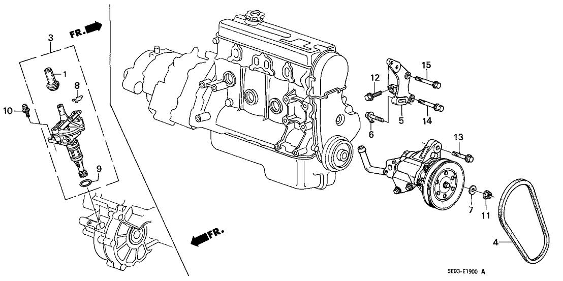 1988 Honda Accord 4 Door Lx Ka 4at P S  Pump