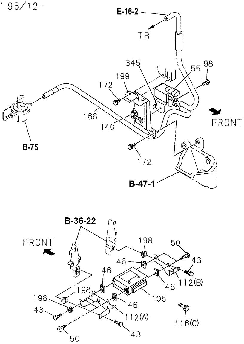 8-01997-201-0 - Genuine Honda Solenoid, Vacuum Control