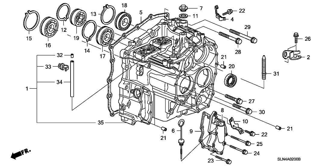 2007 Honda Fit 5 Door Base Ka 5at At Transmission Case