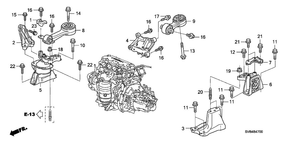 50690-sna-a00 - genuine honda bracket, torque rod (lower) 2008 honda civic engine diagram honda civic 2001 under the hood diagram honda parts now