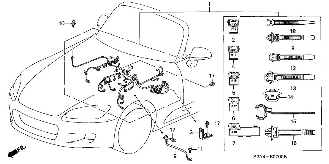 2001 Honda S2000 Engine Diagram