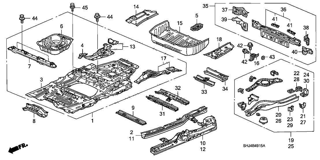 Honda Odyssey Under Body Diagram