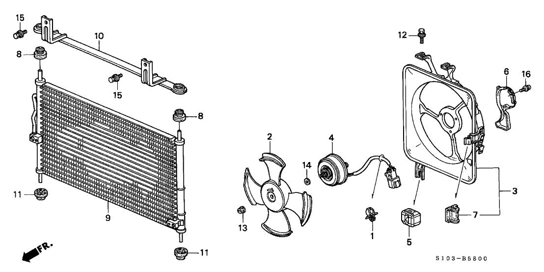38616PAAA01  Genuine Honda Motor     Cooling       Fan