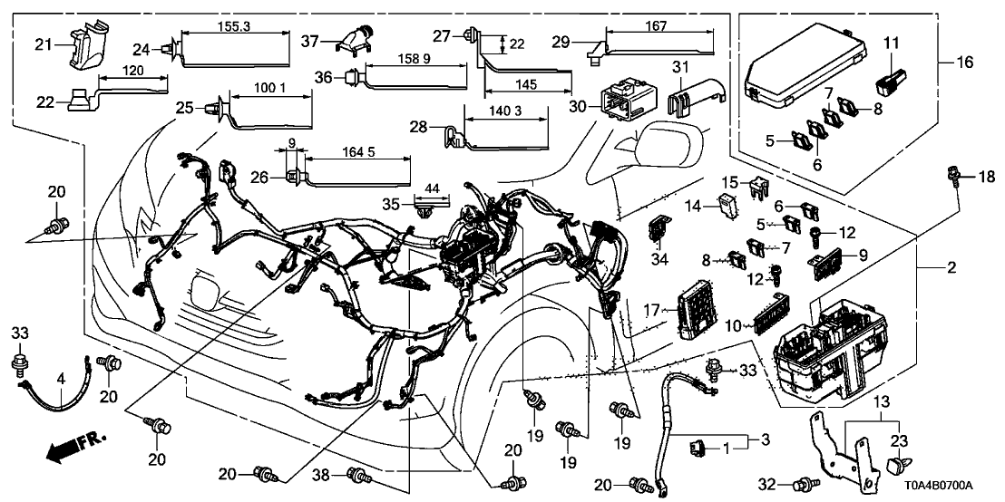 honda crv wire harness 2014 honda cr v 5 door ex  awd  ka 5at wire harness  2014 honda cr v 5 door ex  awd  ka 5at