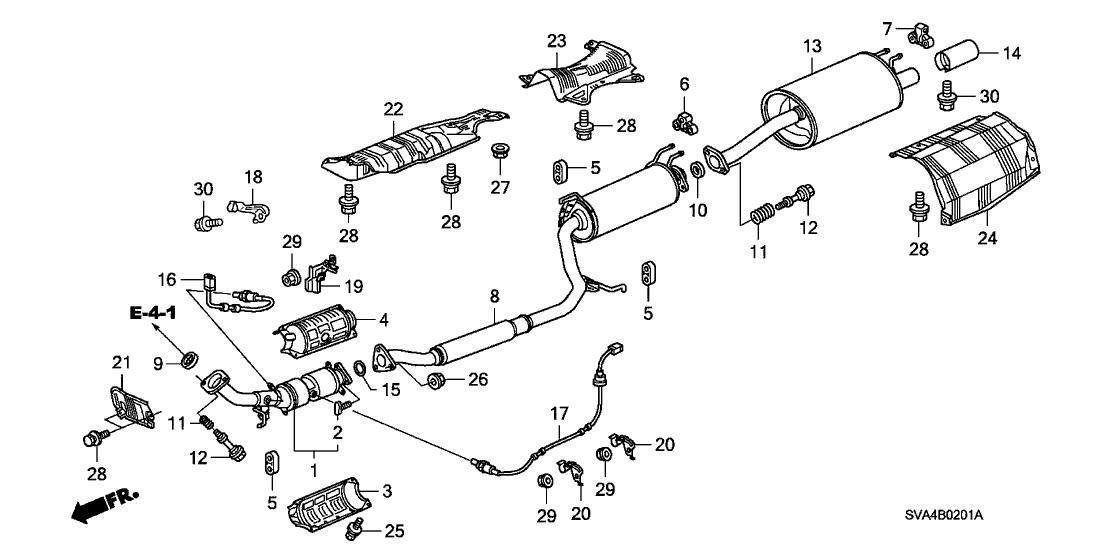 honda 74655 sna a00 toyota camry exhaust system diagram 1997 honda civic exhaust diagram