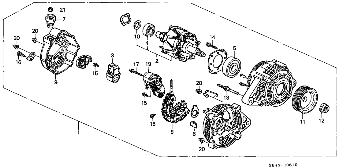 1999 Honda Accord Exhaust System Diagram