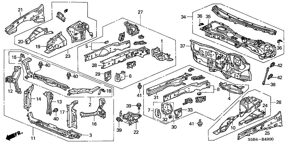 Exterior Honda Civic Body Parts Diagram