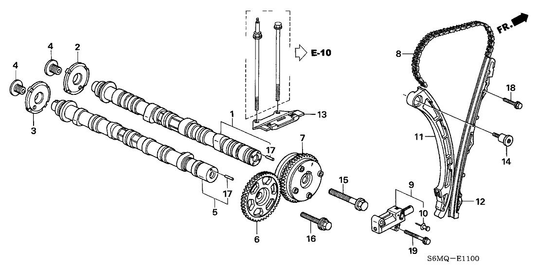 Tremendous 14110 Ppa 010 Genuine Honda Camshaft In Wiring Database Gramgelartorg
