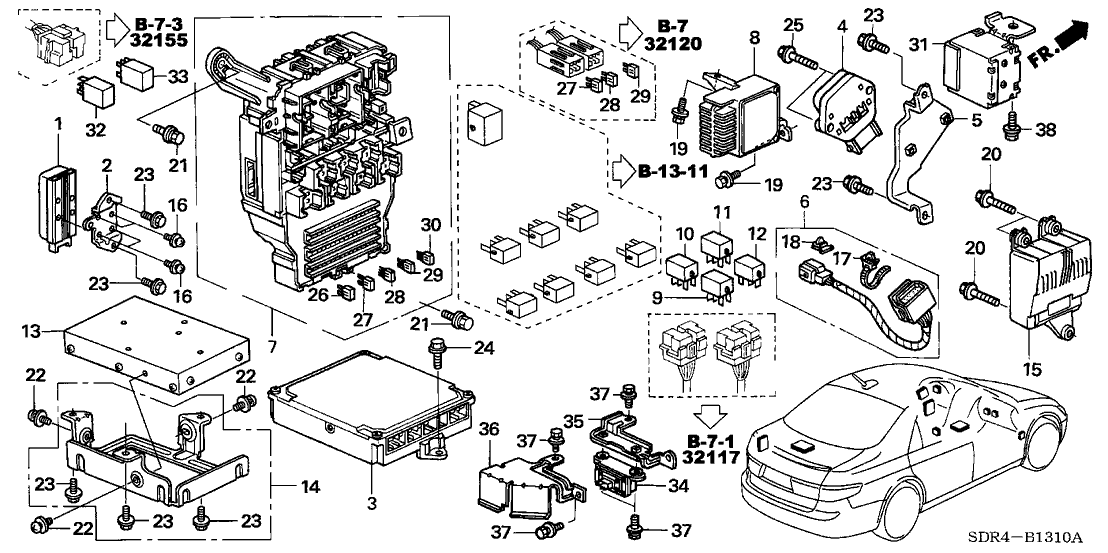 37820-RCJ-335 - Genuine Honda Control Module, Engine