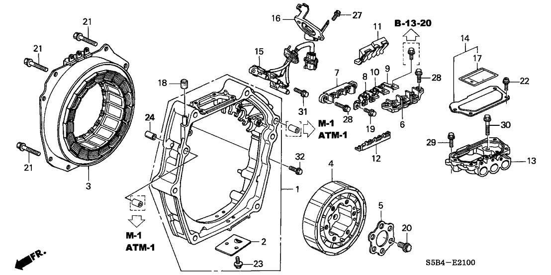 1A461-PZA-000 - Genuine Honda Busbar U, MotorGenuine Honda Parts