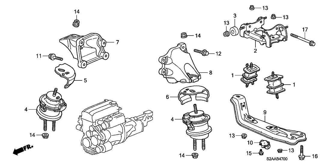 50807 s2a 010 genuine honda bracket transmission mount. Black Bedroom Furniture Sets. Home Design Ideas