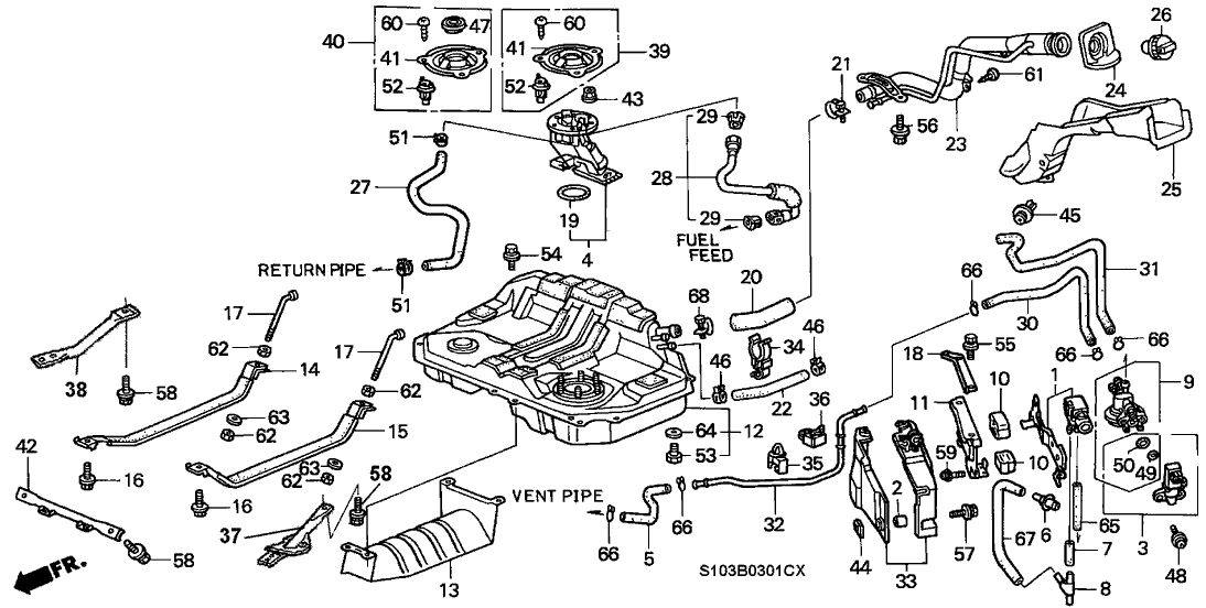 Honda Crv Fuel Line Diagram