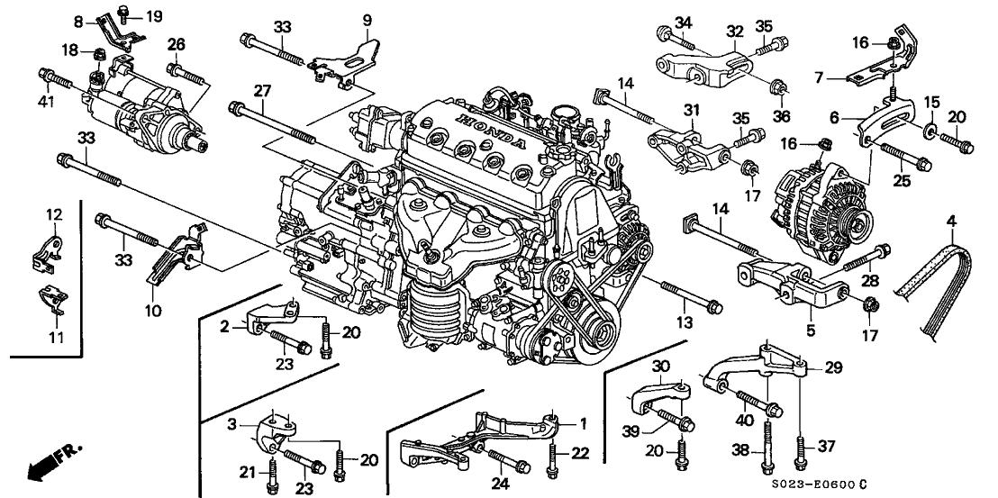 2000 honda civic ex engine diagram 90058 p72 000 genuine honda bolt  alternator  upper   genuine honda bolt  alternator