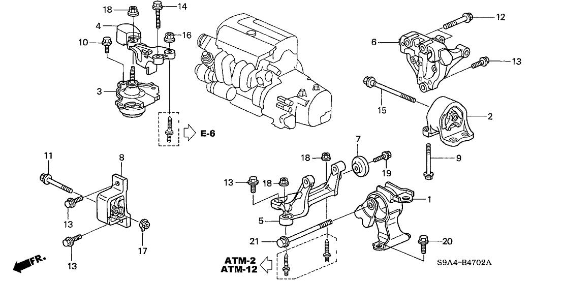 50840S7C980  Genuine    Honda    Stopper  FR Engine