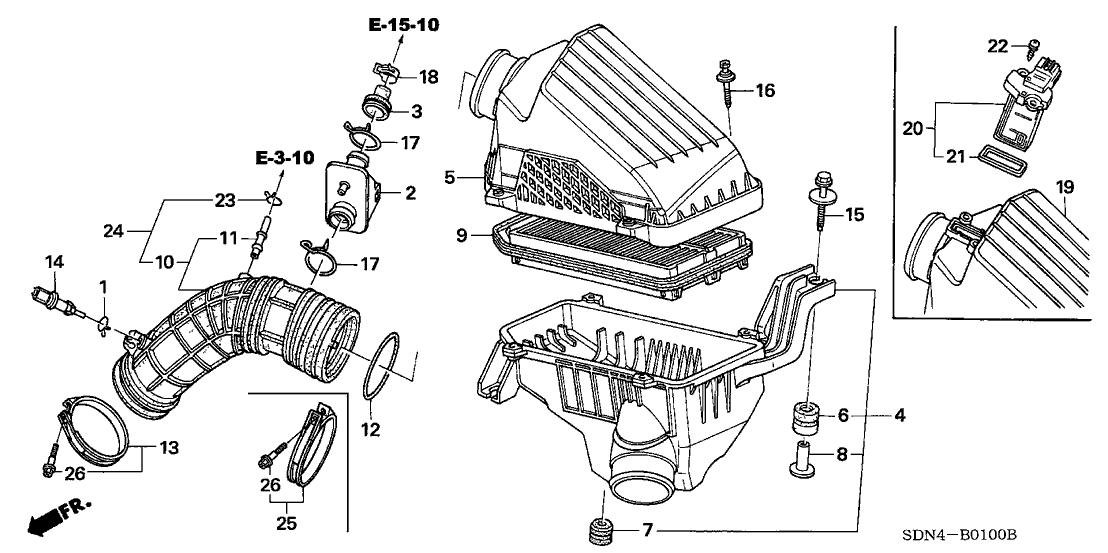 Awesome 17228 Rad L60 Genuine Honda Tube Air Flow Wiring Digital Resources Pelapslowmaporg